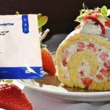 イチゴロールケーキ写真