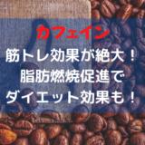 カフェインは筋トレへの効果が大きい!摂取方法や注意点を徹底解説